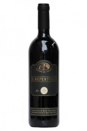 Una bottiglia di Aglianico del vulture Il Repertorio vino rosso al Ristorante Mangio Roma