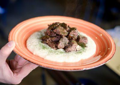 Un piatto di Bocconcini di Manzo in umido di Ristorante Mangio Roma